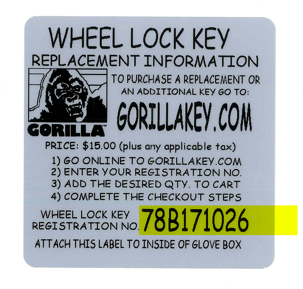 Gorilla Automotive Products 2 Way Switch Replacement Locate And Identify Your Registration Number