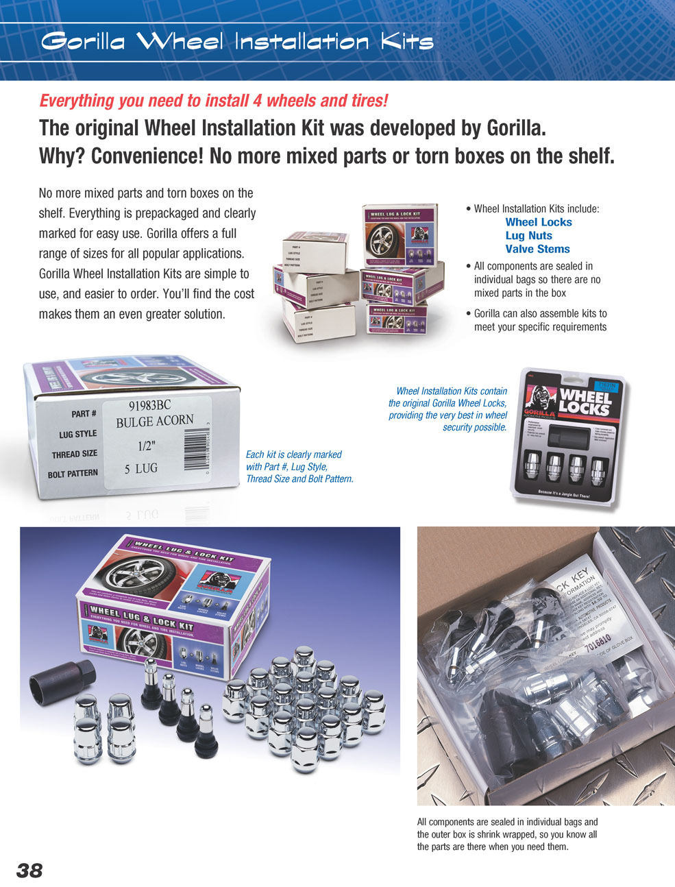 gorilla auto wheel installation kits